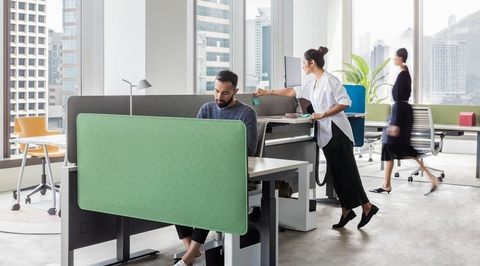 Steelcase introduces Sarto Screens - visual separation solutions for offices