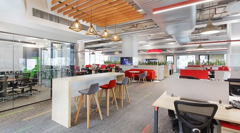 MG Motors office by AVA helps translate its global presence and reinforces its brand value