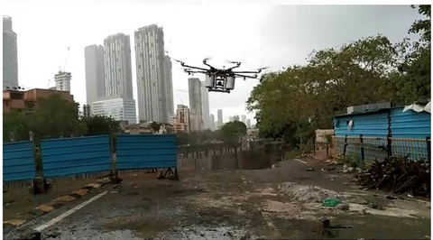 Embassy Services in collaboration with BMC launched Aerial Disinfection Drone by Maharashtra Cabinet Minister Aaditya Thackeray