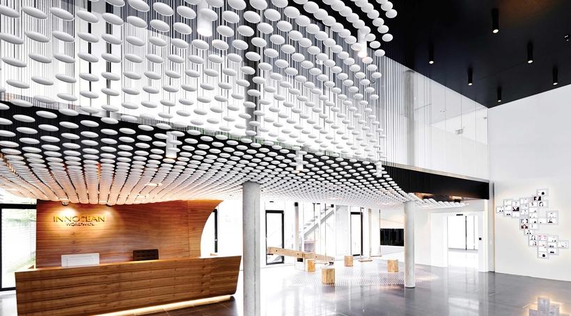 Ippolito Fleitz Group, create a progressive spatial expression for the Innocean headquarters