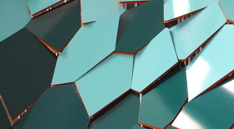 Hokusai artwork inspires 3D parametric Sinagpore ceiling