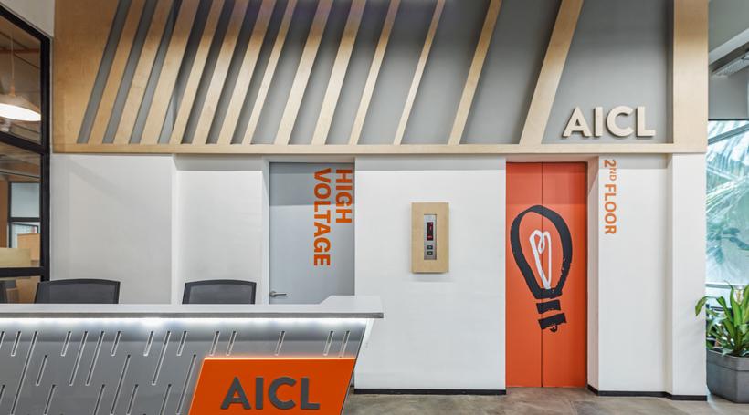 AICL Mumbai workplace interiors by SAV Architecture + Design