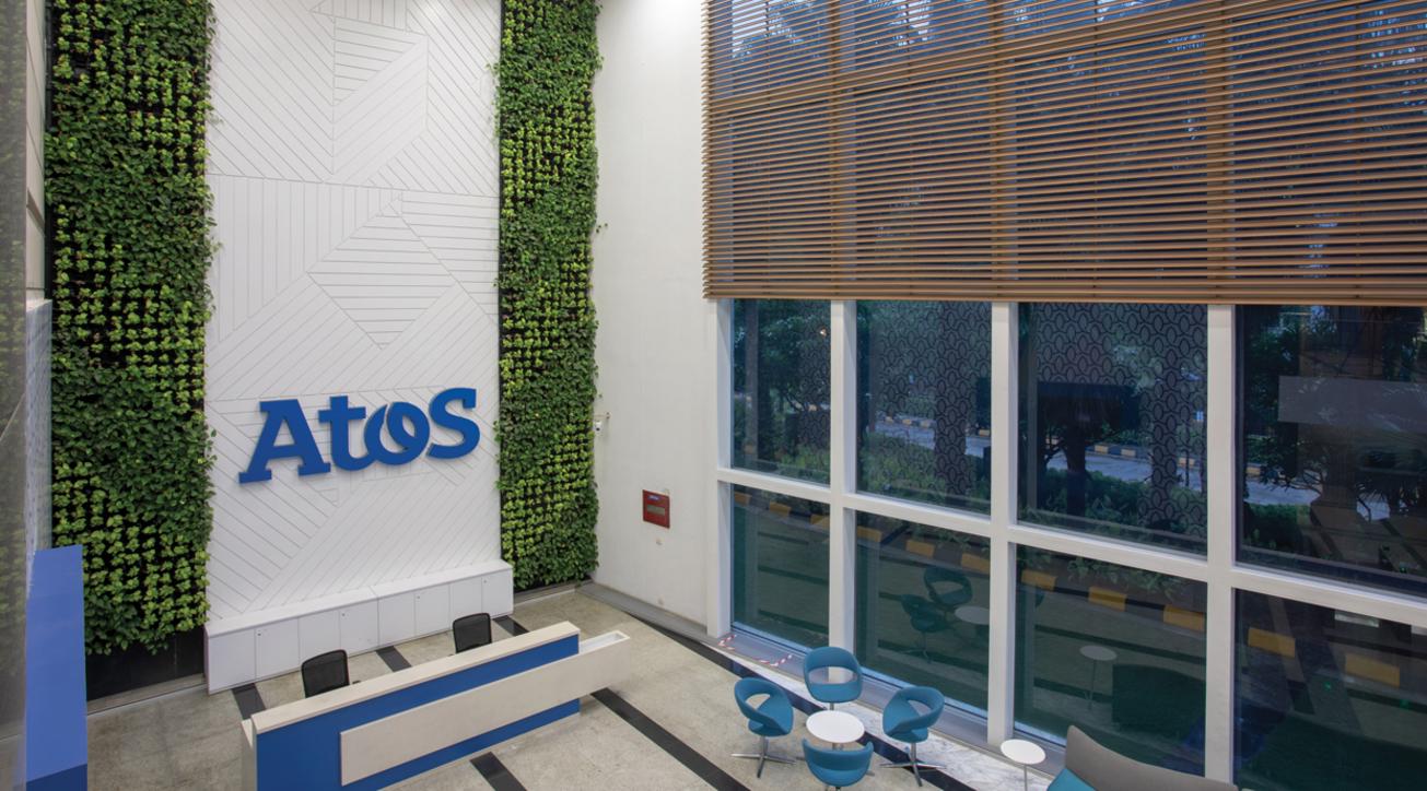 Atos office interior, DSP Design Associates, Office design, Corporate office design, Corporate interiors