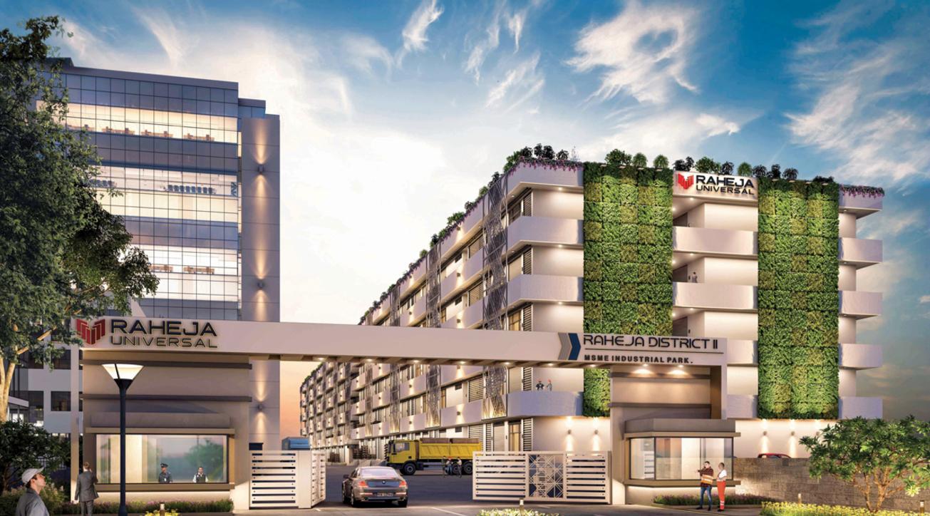 Raheja universal, Raheja District II, Industrial complex