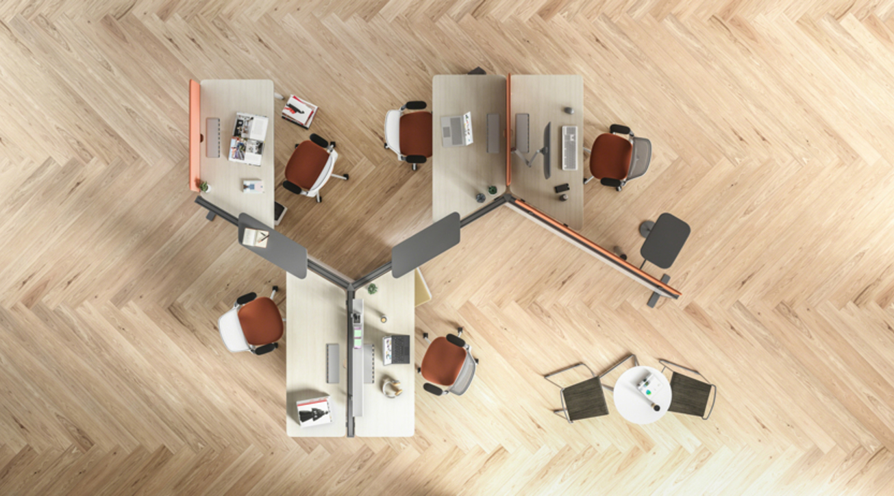 Steelcase, Diversal, Collaborative workplace solution, Desking system, India