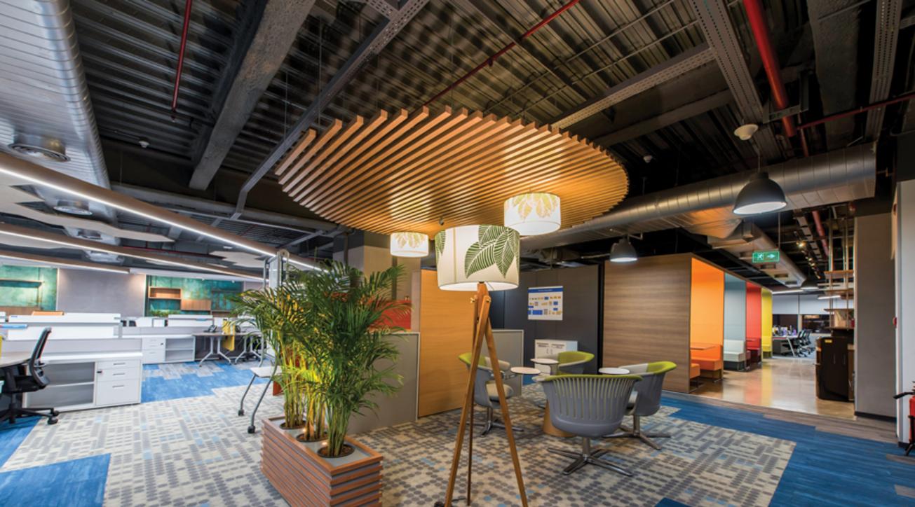 Corporate interiors, Corporate office design, GE Digital Office, Bengaluru, RC Architecture, Cherry Hill Interiors