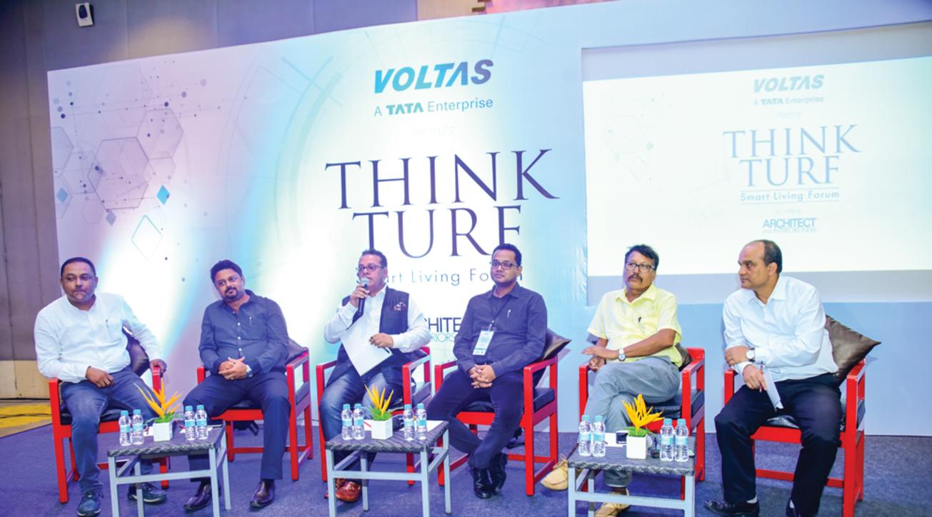 The panelists of the Guwahati event: (L-R) Pritam Nath, Amitabh Sharma, Bibhor Srivastava (moderator), Rittick Hazarika, Digambar Das and Budhin Borthakur.