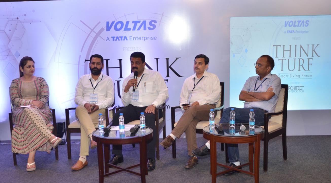 (L-R) Palka Nagpal from Esthetique; Evolution Architects' Bimaldeep Singh; Sanjay Goel from Designex Architects; Rajan Tangri of Ideas Hub; and Yogesh Singla from Aakriti Architects.
