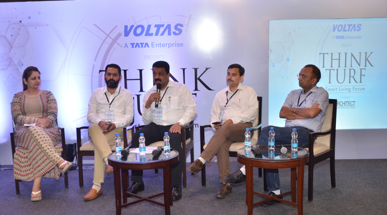 (L-R) Palka Nagpal from Esthetique; Evolution Architects' Bimaldeep Singh; Sanjay Goel from Designex Architects; Rajan Tangri of Ideas Hub; and Yogesh Singla from Aakriti Architects.