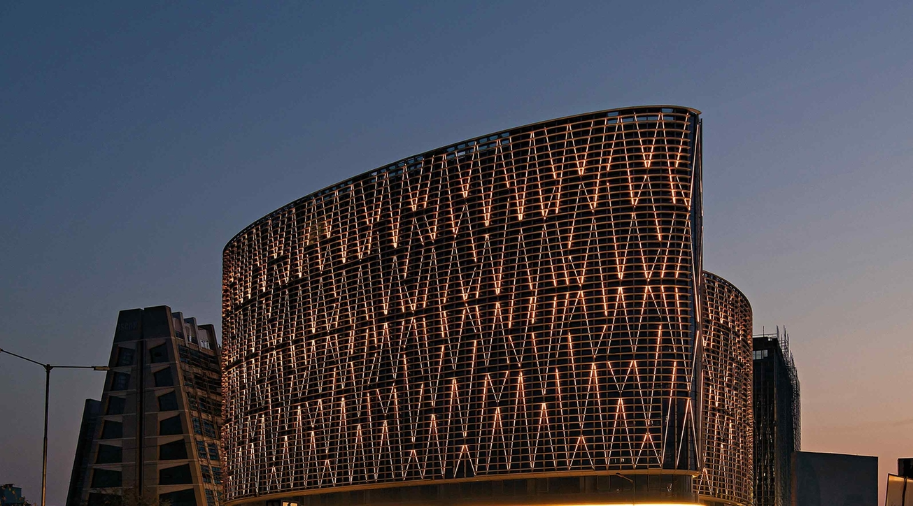Blocher Blocher India, Mondeal Square, Ahmedabad, LED Facade