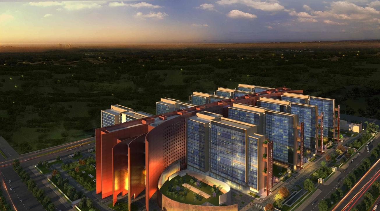 Surat Diamond Bourse, Morphogenesis, Office building'
