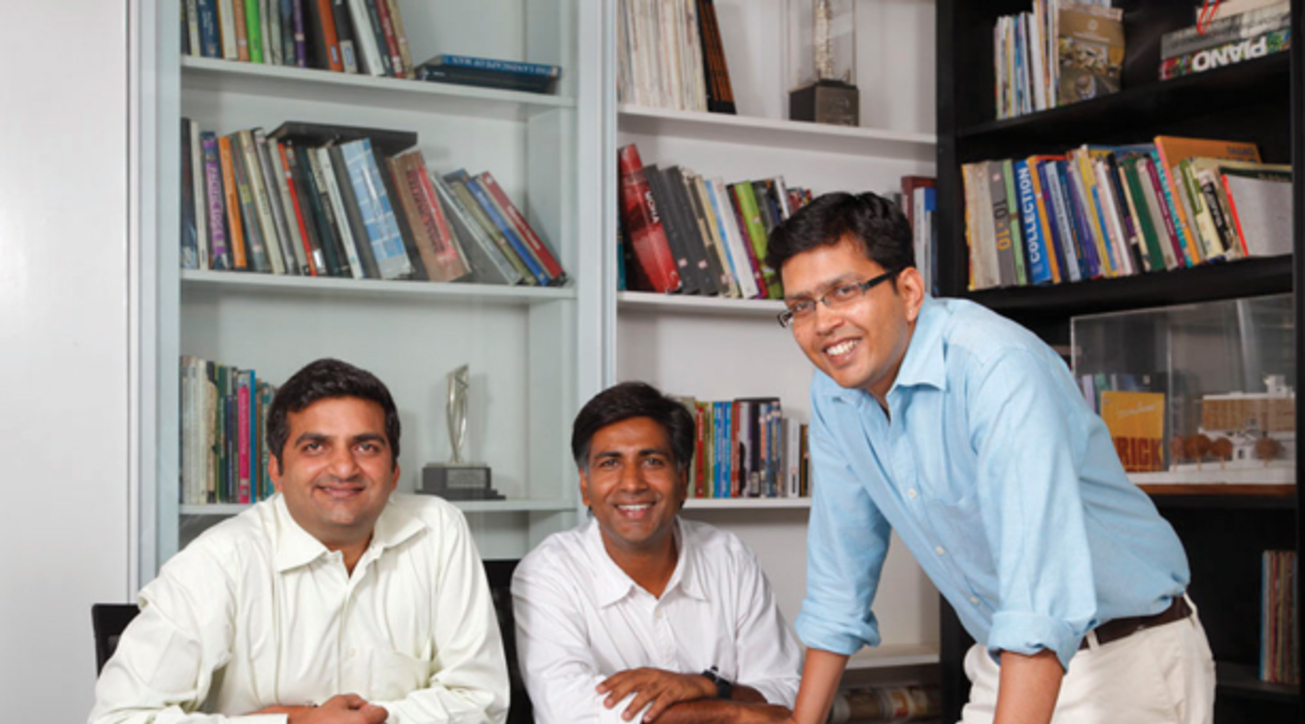 Manoj Ladhad, Vimal Jain and Sandeep J, founders and directors, Architecture Paradigm, Bengaluru