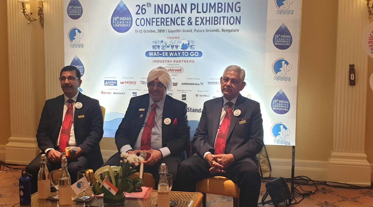 L-R: Prasanna Kumar, chairman, IPA BLR Chapter; Gurmit Singh, national president, IPA; and CS Gupta, national secretary, IPA.