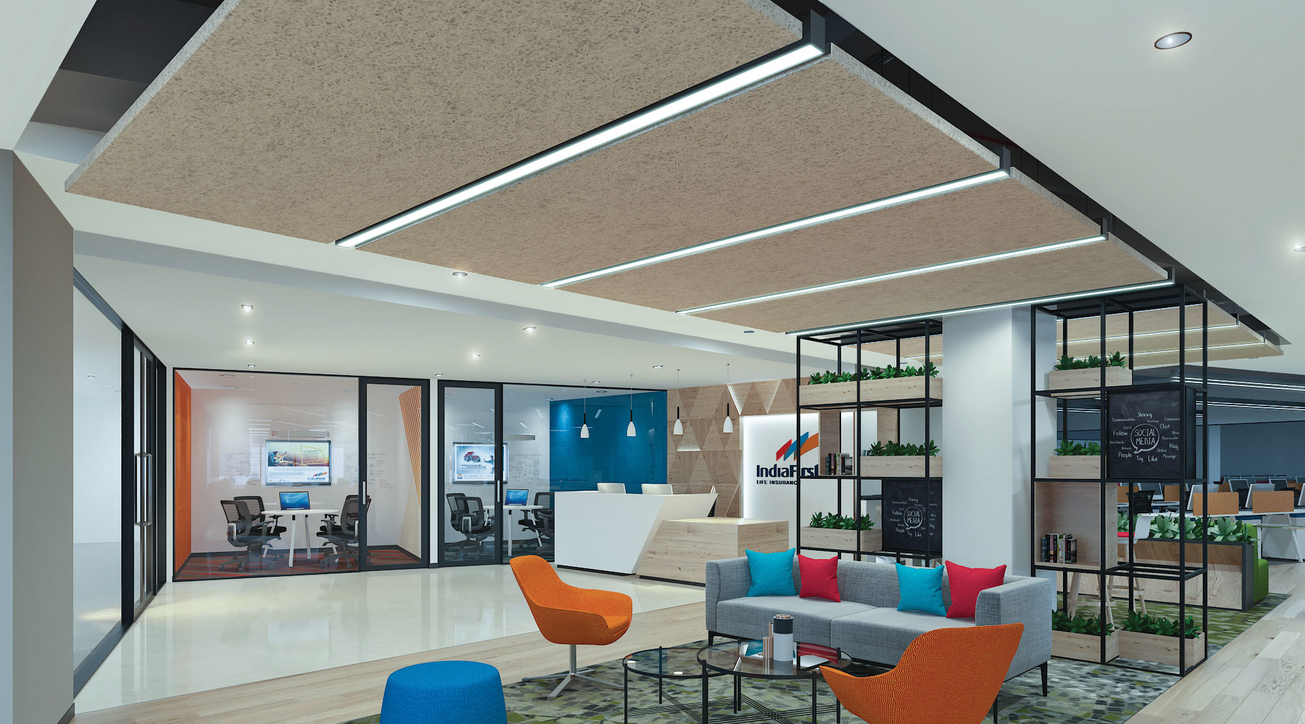 IndiaFirst Life Insurance office, Corporate interiors, Design and build