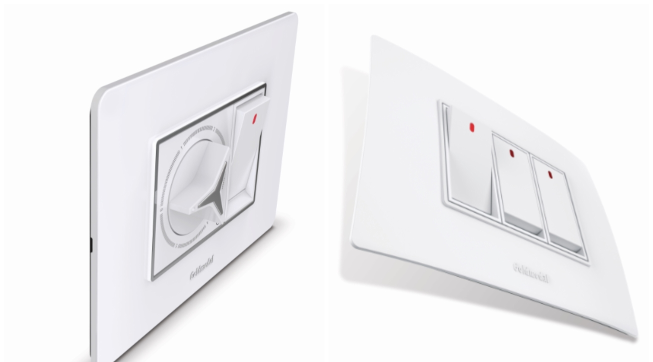Goldmedal Electricals, Cover plates, Modular switches, A7, A5, Electrical goods, FMEG, Contemporary