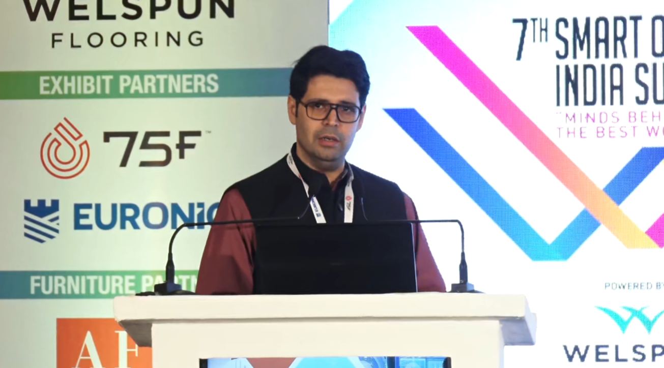 Smart office summit india 2019, Keynote address, Karl wadia, Architect Hafeez Contractor, Informed design