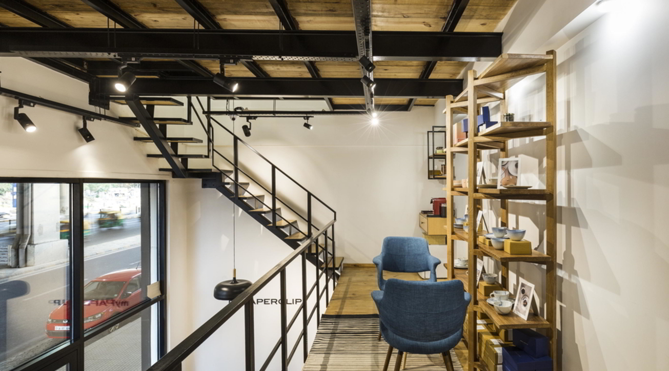 MyPaperclip, Gurgaon, Stationary store, Retail outlet, Sync Design Studio, Chic, Minimalism