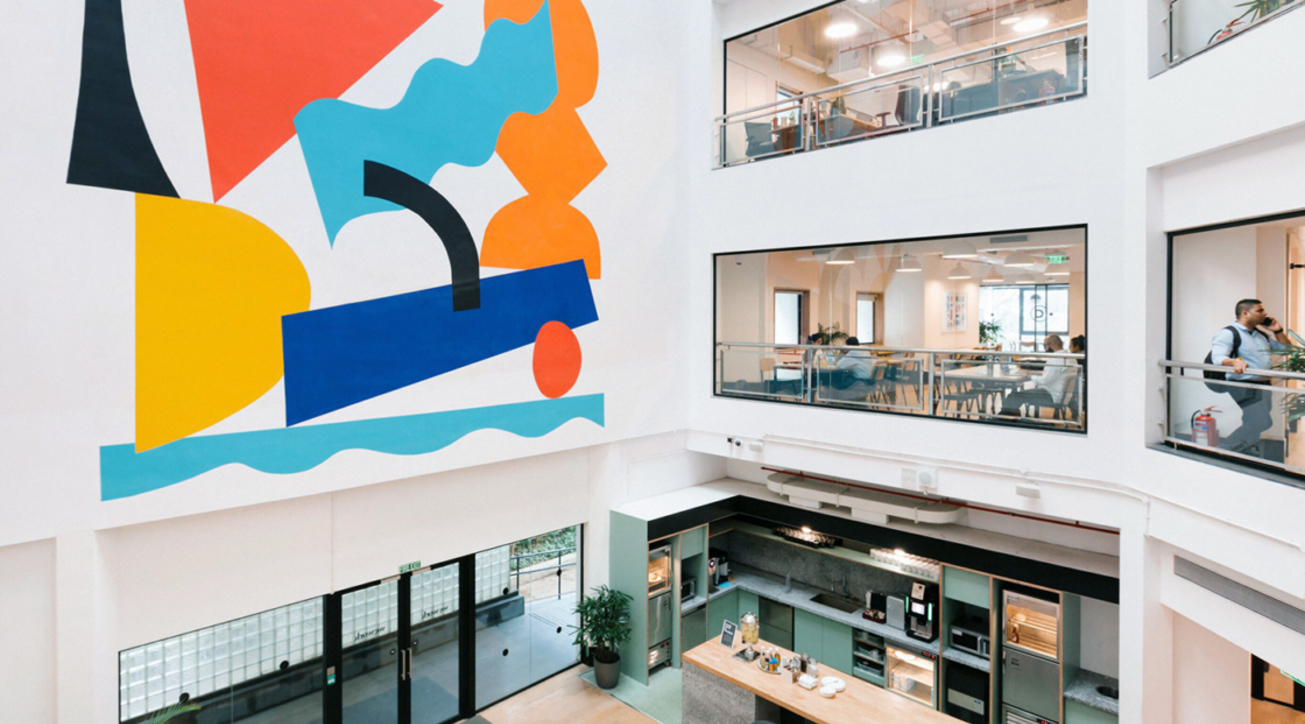 Wework Delivers A Creative Customised Space For A Design College Projects Raffles Design Institute Wework Coworking Space Commerical Design India