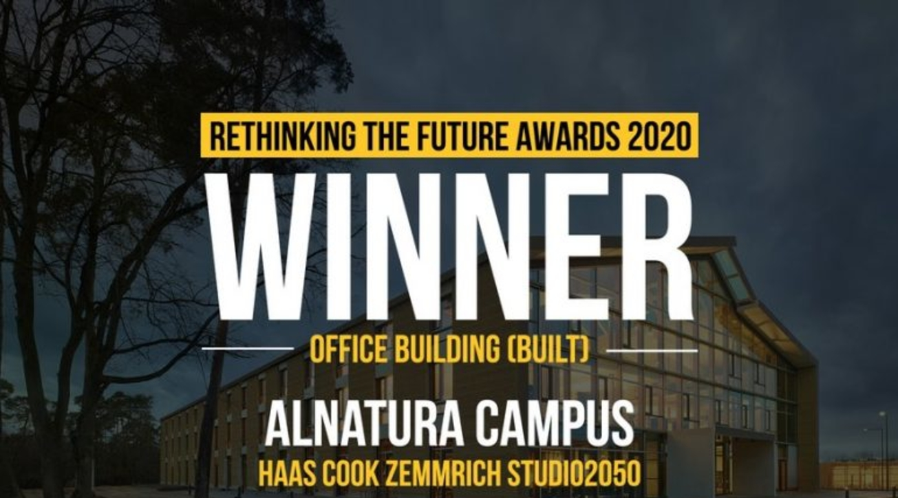 Alnatura Campus, Haas cook zemmrich STUDIO2050, Rethinking The Future Awards 2020, Office Building, Built