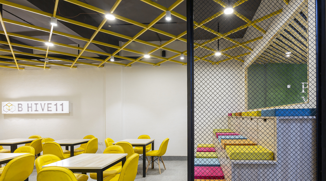 BHive-11, Studio Bipolar, Coworking space, Workspace design, Vibrant, Grass, Oak wood, Colours, Accents, White