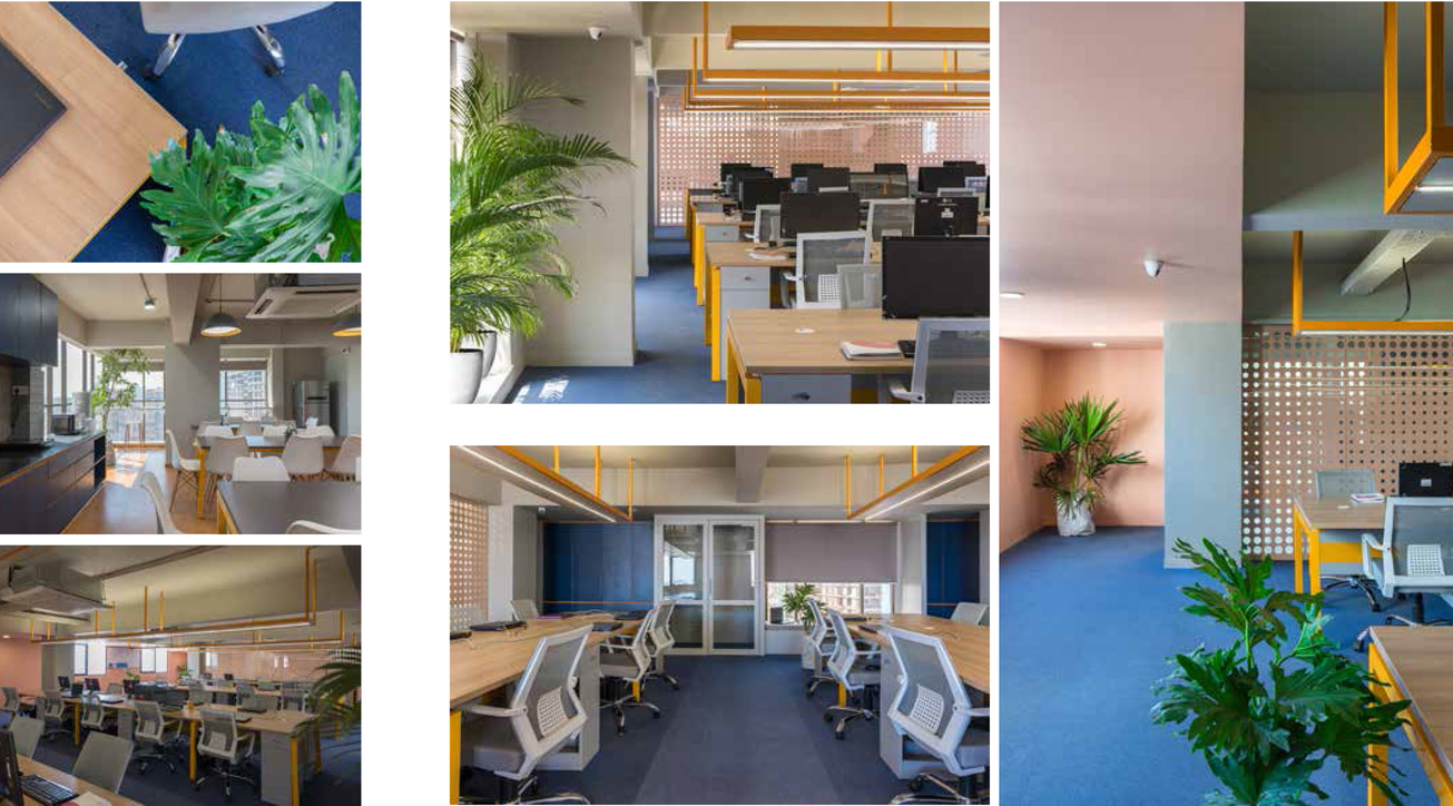 Studio saransh, IT company office, Workplace design, Pastel office