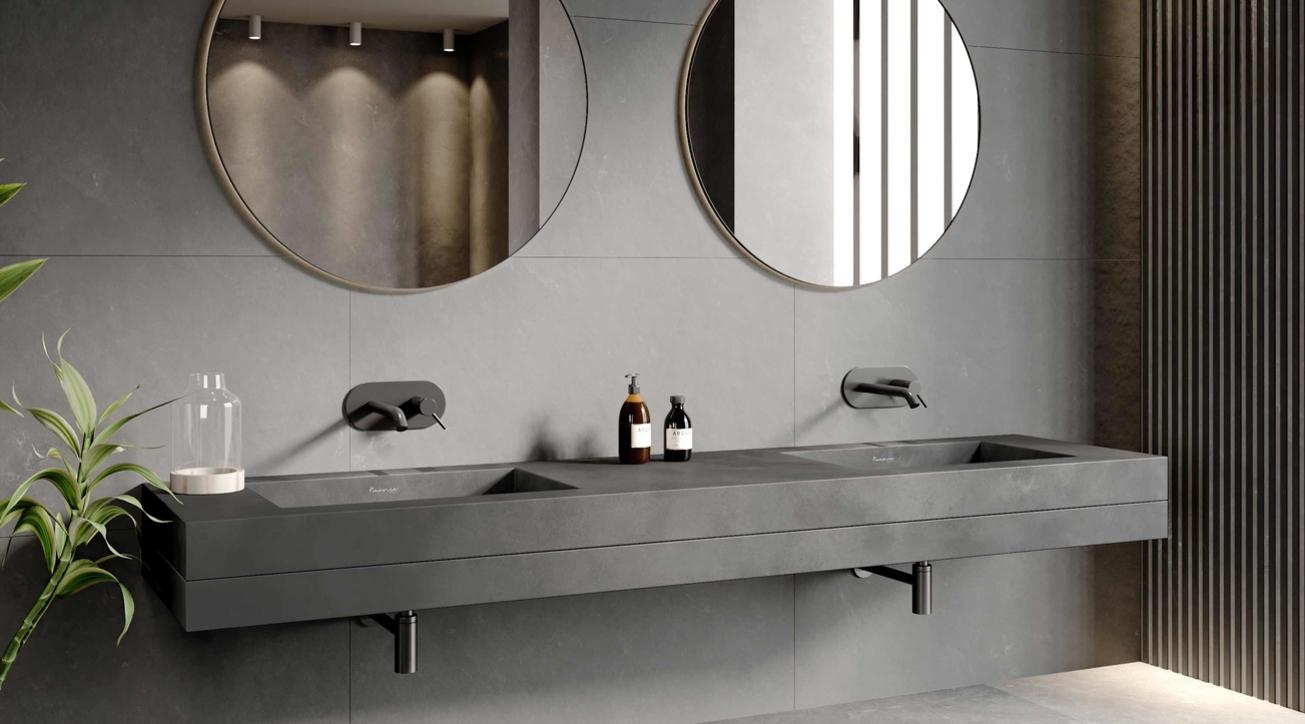 Concrete washbasin, Monolith washbasin